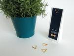 Gouden clip driehoek