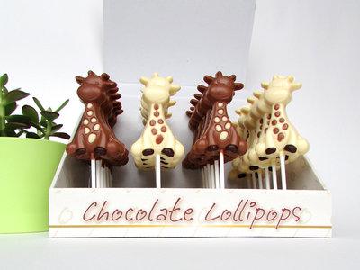 Chocolade lollies Raf de Giraf