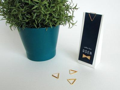 Driehoekige clip goud