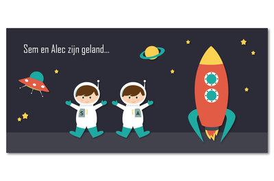 Geboortekaartje Sem & Alec