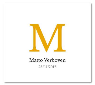 Geboortekaartje Matto