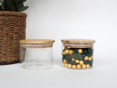 Voorraadpot met houten deksel