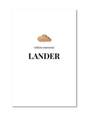 Geboortekaartje Lander