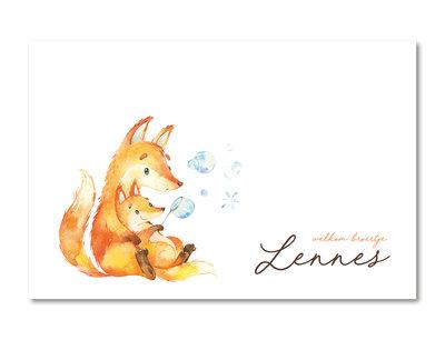 Geboortekaartje Lennes