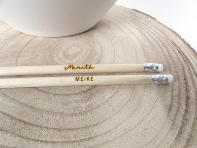 Houten potlood met naam