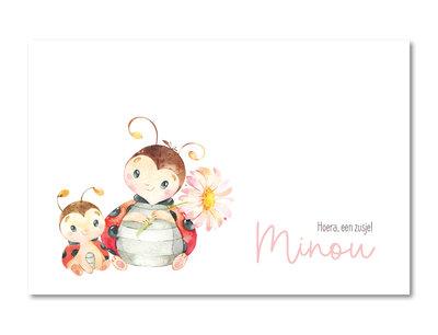 Geboortekaartje Minou