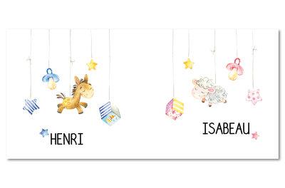 Geboortekaartje Henri & Isabeau