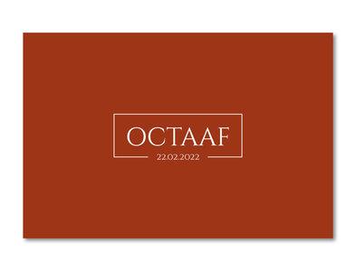 Geboortekaartje Octaaf terracotta