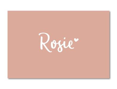 Geboortekaartje Rosie oudroze